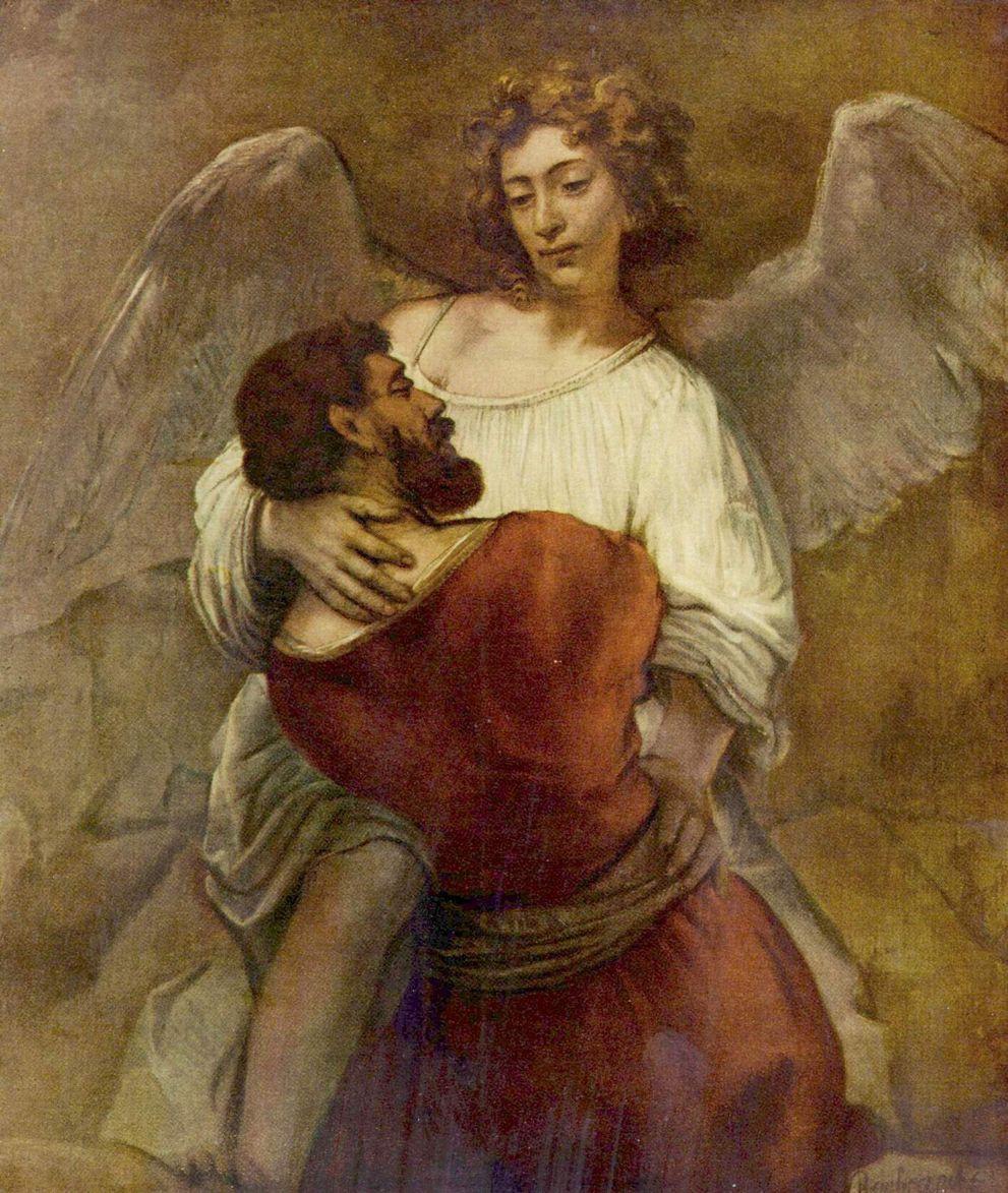 Рембранд. Иаков борется с ангелом.